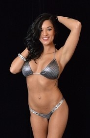 Silver Glitzy Stars Thick Thong with Grommets and Bikini Halter Top