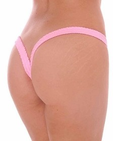 Baby Pink Butterfly Thick Band Side Scrunch V Back Thong
