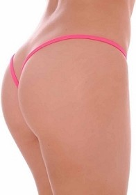 Hot Color Premium Lined V Back Thongs