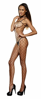 Black Diamond Fence Net Bodystocking