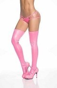 Sassy Metallic Hot Pink Thigh High Stockings