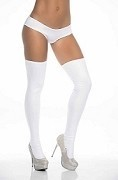 Sassy Metallic White Thigh High Stockings