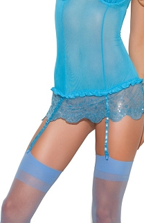 Sky Blue Sheer Thigh Highs
