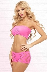Pink Side Game Seamless Bandeau Set