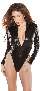 Kitten Naughty Wet Look Zipper Teddy