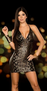 Gold Snakeskin Dress