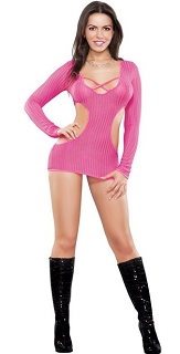 Pink Cut Out Dress with G-String