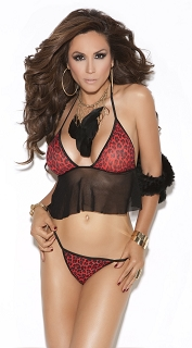 Red Leopard Cami Top with G-String