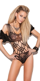 Vivace Black Lace Teddy Lingerie With Cutout Detail