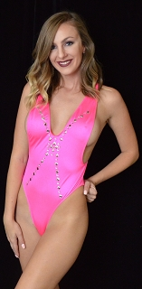Hot Pink Fundazzle Romper with Jewels