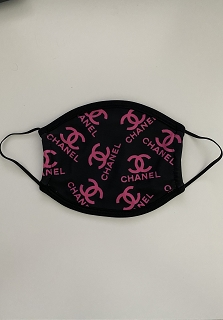 Black Pink Chanel Face Mask