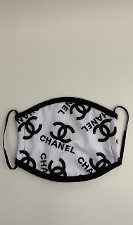 Black White Chanel Face Mask