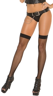 Neon Nites Black Fishnet Thigh Highs