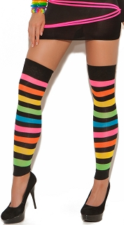 Neon Rainbow Stripe Leggings