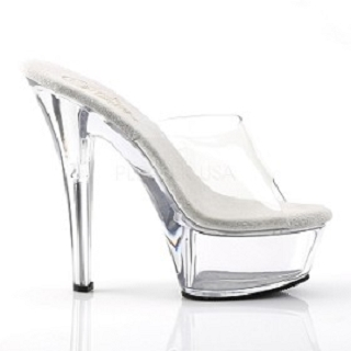 6 Inch Clear Spike Heel Platform Shoe