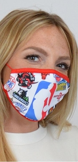 White NBA Sports Face Mask