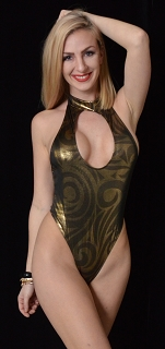 Gold Metallic Idol Keyhole Romper