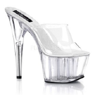 6 1/2 Inch Clear Platform Slide Stiletto