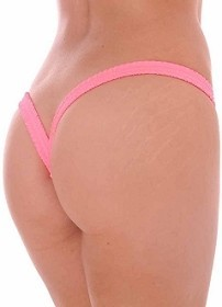 Coral Butterfly Thick Band Side Scrunch V Back Thong