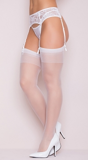 White Sheer Thigh High Stocking