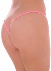 Coral Premium Lined V Back Thongs