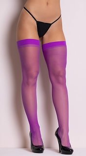 Dark Purple Sheer Thigh Highs