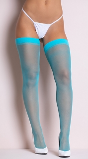Turquoise Sheer Thigh Highs
