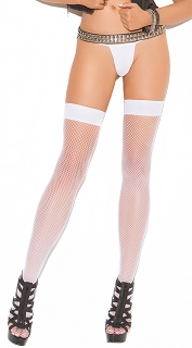Neon Nites White Fishnet Thigh Highs