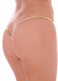 Gold Premium Lined V Back Thongs