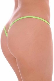 Lime Premium Lined V Back Thongs