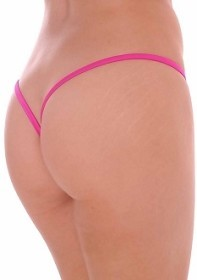 Lipstick Premium Lined V Back Thongs