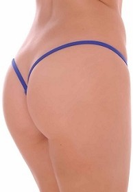 Royal Blue Premium Lined V Back Thongs