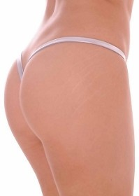 Silver Premium Lined V Back Thongs
