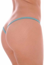 Turquoise Premium Lined V Back Thongs