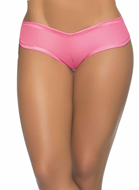 Wet Pink Low Rise Cheeky Cut Boyshort