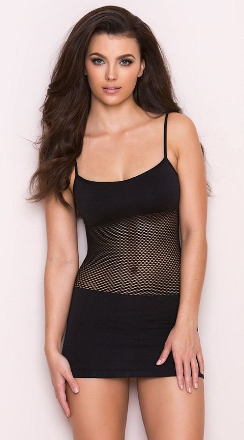 Black Adrenaline Seamless Net Dress