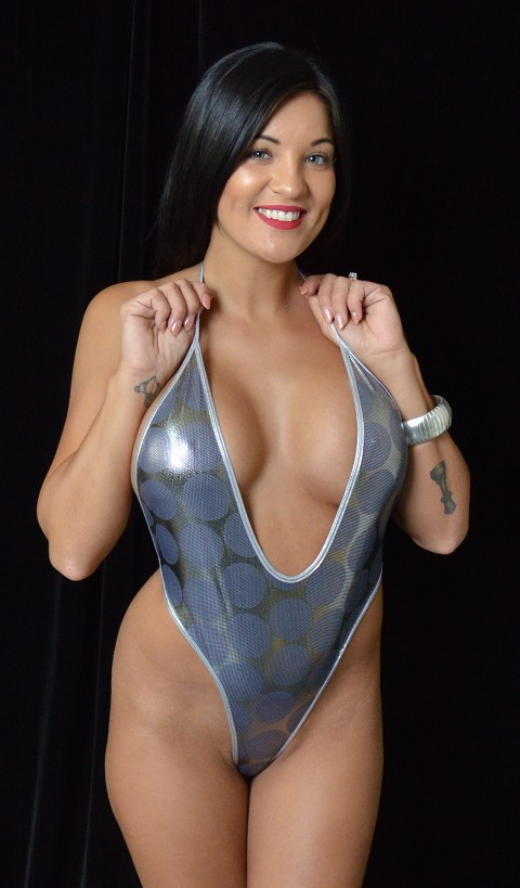 Silver Full Circle Strappy Romper Teddie