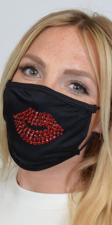 Sequin Lip Face Mask