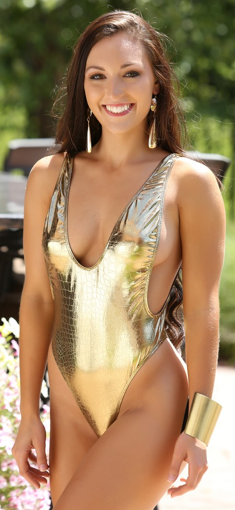 Golden Greek Goddess Slim Romper Teddie