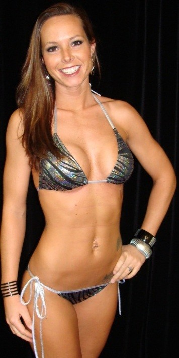 Black with Silver Swirl Foil Tie Side Scrunch Bikini Bottom with Halter Top